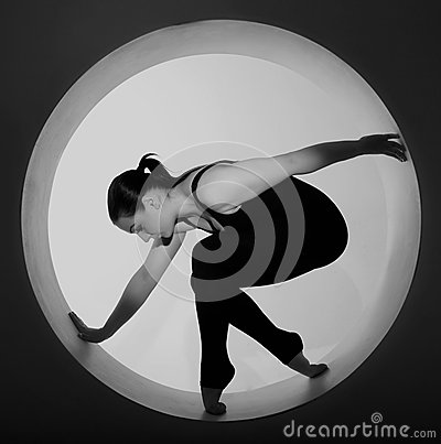Woman posing in a circle