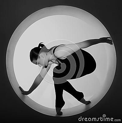 Woman posing in a circle