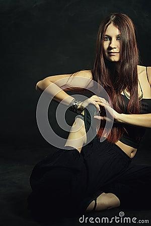 Free Woman Practicing Yoga Stock Photos - 53762633