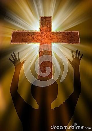 Woman Praising God Royalty Free Stock Photography - Image: 35802217