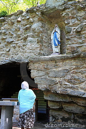 National Shrine Grotto of Our Lady of Lourdes Editorial Photo