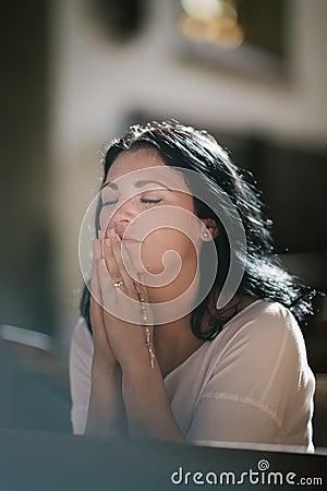 Free Woman Praying Royalty Free Stock Photos - 59043468