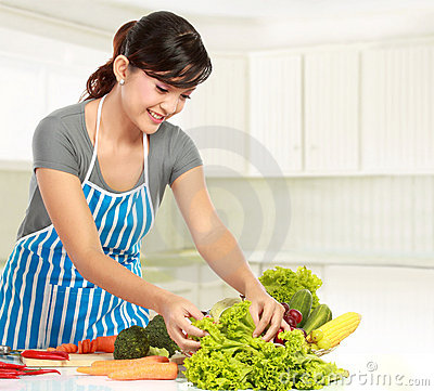 Woman preparing some heathy food