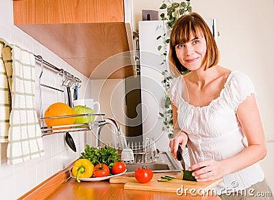woman preparing something to eat