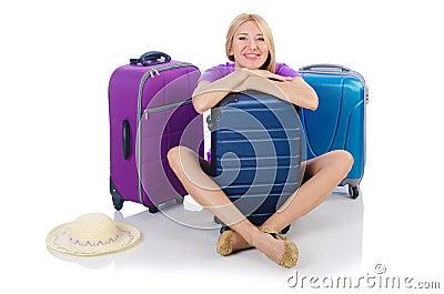 Woman preparing for travel