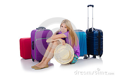 Woman preparing for travel