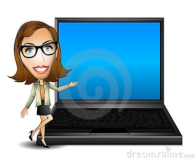 Woman Presenter With Laptop