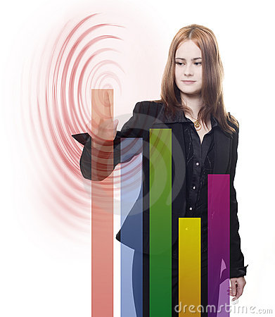 Woman presenting business chart