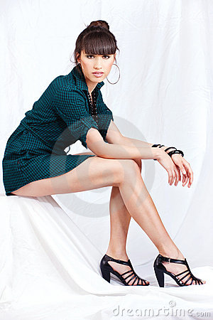 Woman with pretty legs