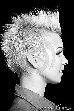Woman profile portrait