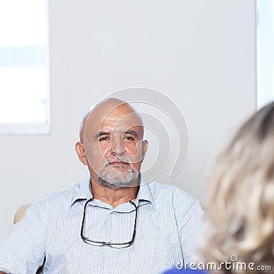 Woman at psychotherapy