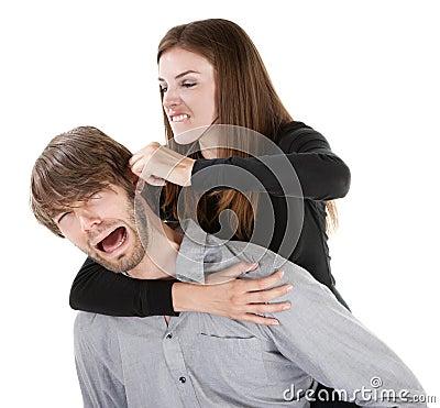 Woman Pulling on an Ear