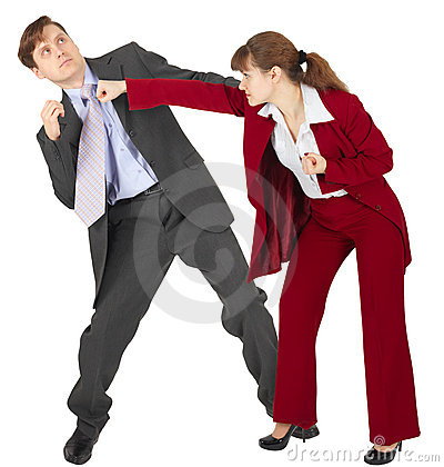 Woman punches man - an denouement dispute