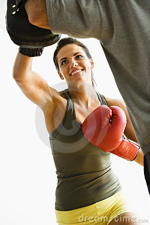 Free Woman Punching Stock Image - 4415581