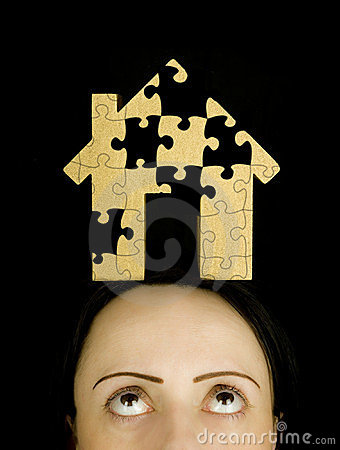 Woman with a puzzle to solve