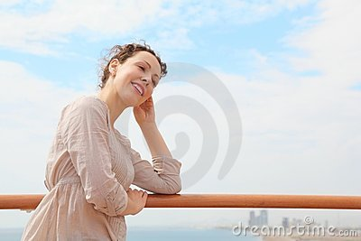 Woman in Qaboos Port.