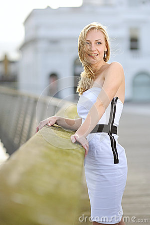 A Woman By The Railings Stock Photos - Image: 26743713