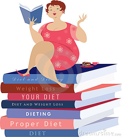 Free Woman Reading About Diet Stock Images - 4927044