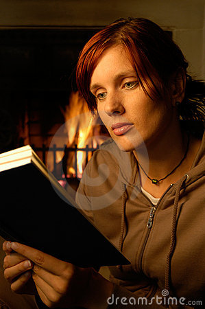 Free Woman Reading (chimney Behind) Royalty Free Stock Image - 206166
