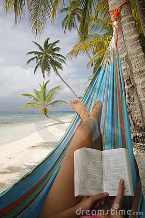 Free Woman Reading In A Hammock Royalty Free Stock Images - 6168579