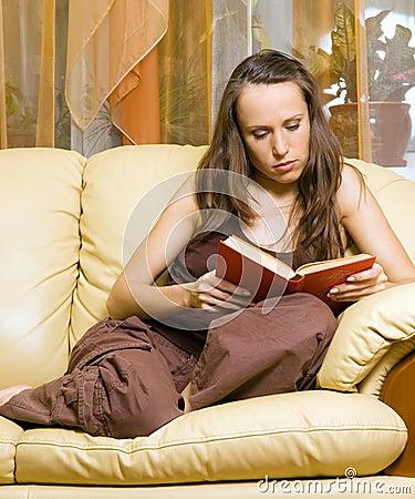 Woman reading novel