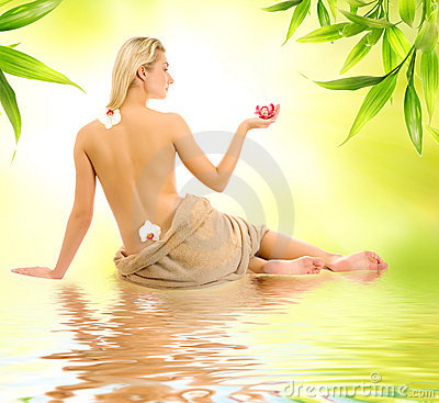 Woman ready for spa treatment