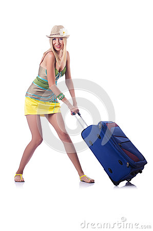 Woman ready for summer vacation