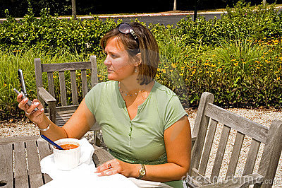 Woman Receiving Text Message - 2