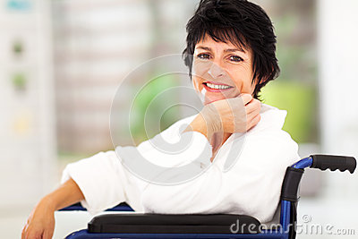 Woman recovering sickness