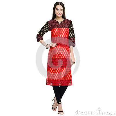 Woman In Red And Black 3/4 Sleeve Midi Dress Free Public Domain Cc0 Image