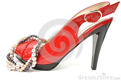 Woman red shoe
