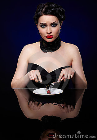 Woman on reducing diet