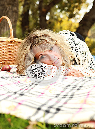 Woman relax on picnic