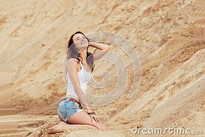 Woman relax summer on beach