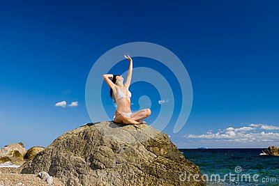 Woman relaxation in the beach
