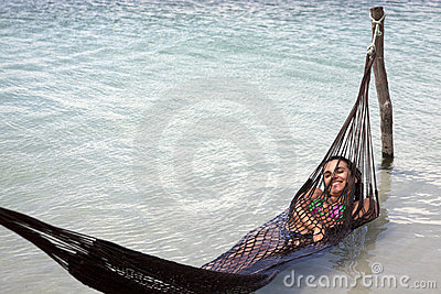 Woman relaxing on holidays