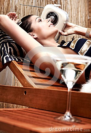 Woman Relaxing On Vacation Royalty Free Stock Photo - Image: 13628605