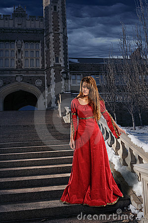Woman in Renaissance Clothing
