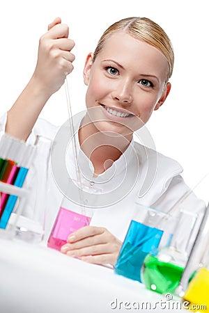 Woman researcher