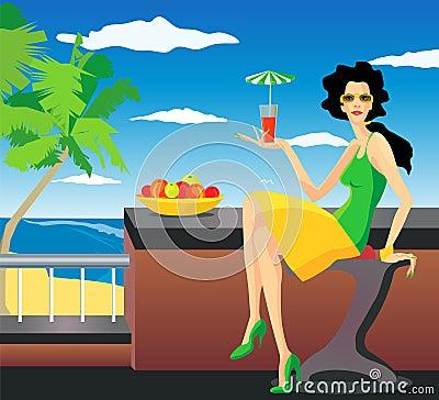Woman on resort