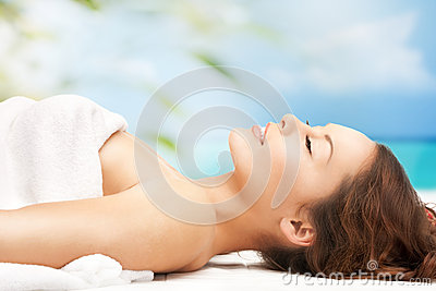 Woman on resort in spa
