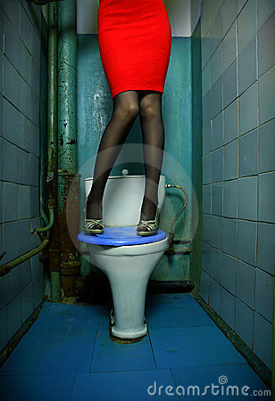 Woman in restroom
