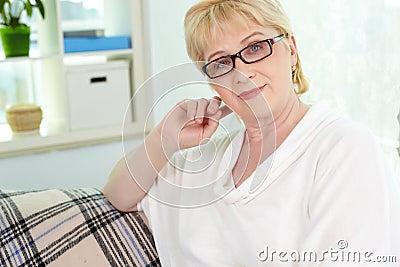 Woman on retire
