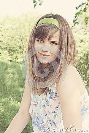 Woman with ribbon/vanilla