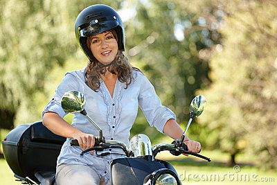 Woman riding