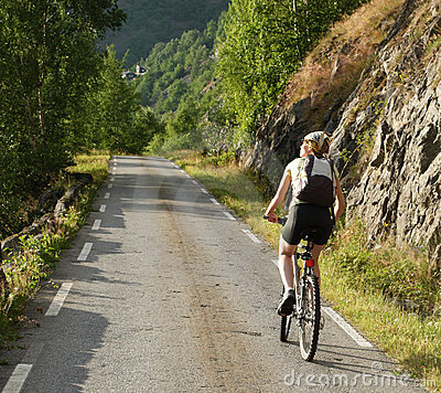 Woman riding on bicycle 2