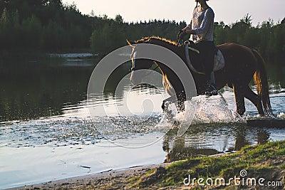 Woman Riding A Horse Free Public Domain Cc0 Image