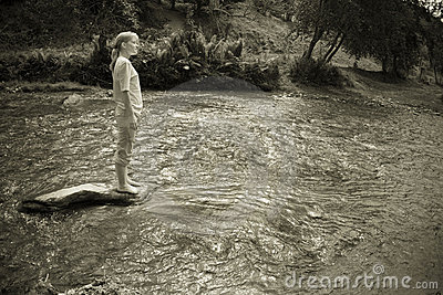 Woman in the river
