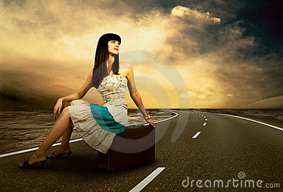 Woman on the road