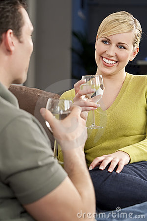 Woman on A Romantic Date Drinking Glass of Water